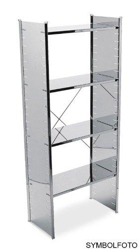 Graepel High Tech hochwertiges H2 Regalsystem aus poliertem Edelstahl