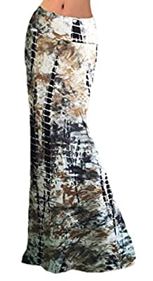 M&S&W Women's Floral Print Skater Bodycon High Waisted Elastic Pencil Skirt