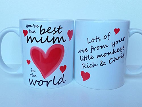High Quality Ceramic Mug Personalised Mothers Day   Best Mum In The World Personalised Mothers Day Mug Design