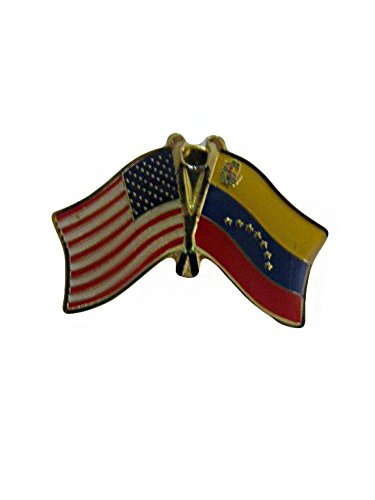 ALBATROS Venezuela 7 Star USA American Friendship Bike Motorcycle Hat Cap Lapel Pin for Home and Parades, Official Party, All Weather Indoors Outdoors