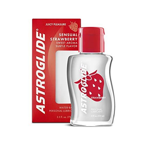 Astroglide Strawberry Liquid, Water Based Personal Lubricant, 2.5 oz.