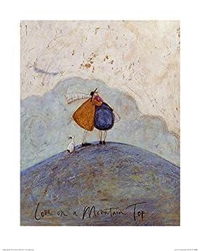 Paper Multi-Colour 40 x 50 x 1.3 cm Art Group The Love on a Mountain Top Sam Toft Art Print
