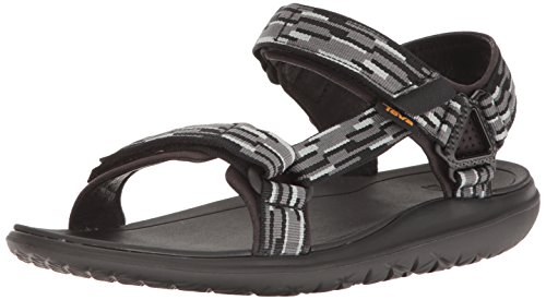 Teva Men's Terra - Float Univ 2.0 Sports and Outdoor Lifestyle Sandal Black (Tacion Black/Grey)