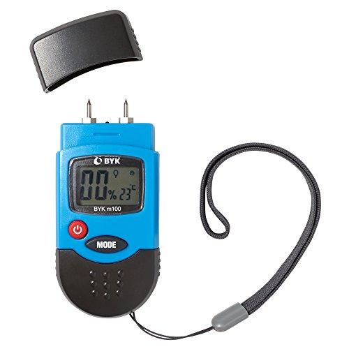BYK-Garner m100 Moisture Meter – Handheld, Pin Type with Backlit Display & Protective Cover – Detect Leaks & Moisture in Walls, Ceilings, Wood, Carpet, & (Measuring Soil Moisture)