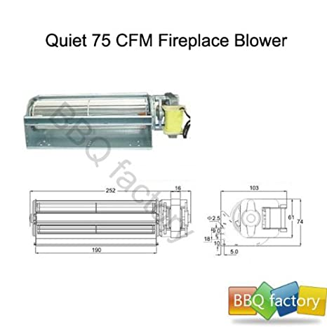 bbq factory Replacement Fireplace Fan Blower for Heat Surge Electric on