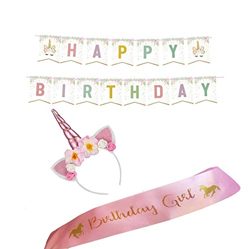 Unicorn Party Supplies & Favors For Baby Girls Horn