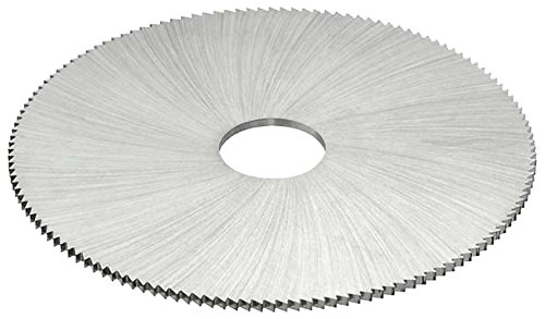 10 Cutting Diameter KEO Milling 08151 Staggered Tooth Slitting Saw,MS Style 1-1//2 Arbor Hole HSS TiN Coating 56 Teeth 3//8 Width