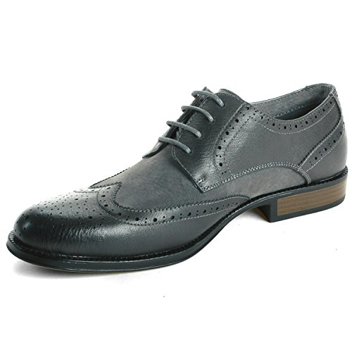 Alpine Swiss Zurich Mens Wing Tip Oxfords Two Tone Brogue ...