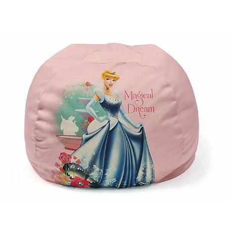 amazon com disney princess bean bag chair for girls toys games