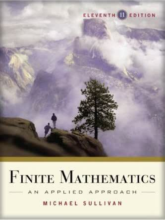 finite mathematics an applied approach 11th edition free download