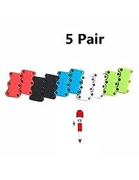 LAFIZZLE 10 PICS 5 Color Magnetic Shoe Closures no tie shoelaces - Never Tie ...