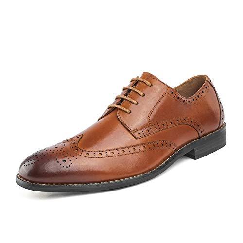 Bruno Marc Men's Brown Wingtip Oxford Dress Shoes Size 8.5 M US