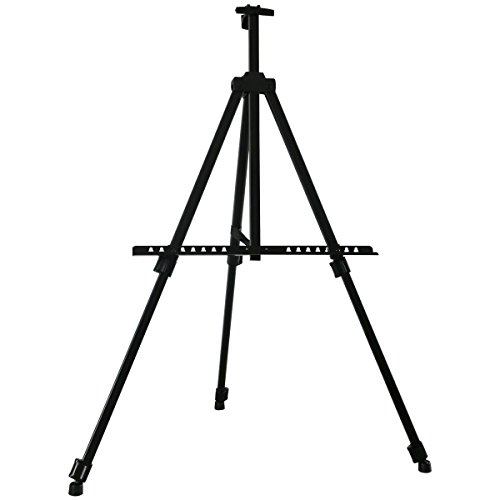 Transon Tripod Aluminum Table and Floor Easel 65 inch Lightweight Adjustable with Portable Bag (Black)