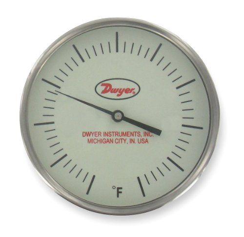 240f Dial Thermometers - Dwyer Instruments - GBTB540141 - Bimetal Thermom, 5 In Dial, 20 to 240F