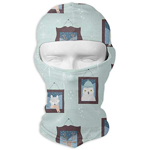 Collection Arctic Ice - Windproof Balaclava, Arctic Animal Collection Ski Mask for Cycling Skiing White