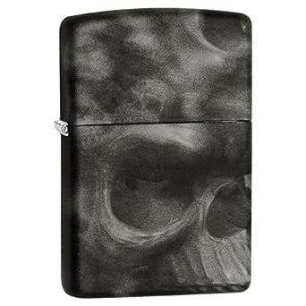 Zippo 28970 Skull Soft Touch Lighter, Black
