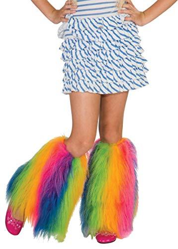 Rainbow Fluffies Leg Warmers -
