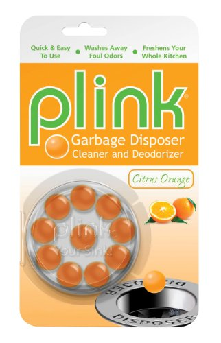 Plink PCO48N Citrus Orange Garbage Disposer Cleaner and Deodorizer-10 Uses-Economical Cleanser Created by Plumbers