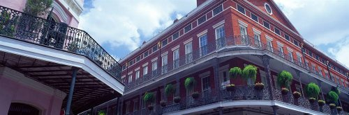 Walls 360 Peel & Stick Wall Murals: Wrought Iron Balcony New Orleans LA USA (72 in x 24 in) (72 Inch Bourbon)