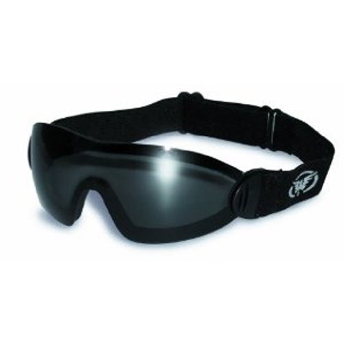 Global Vision Eyewear Flare Anti-Fog Goggles with Storage Pouch, Smoke Tint Lens, Outdoor Stuffs