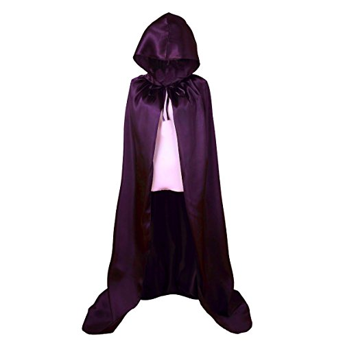 [Beauty Bloom Unisex Full Length Hooded Cloak Halloween Cape Costume, 59