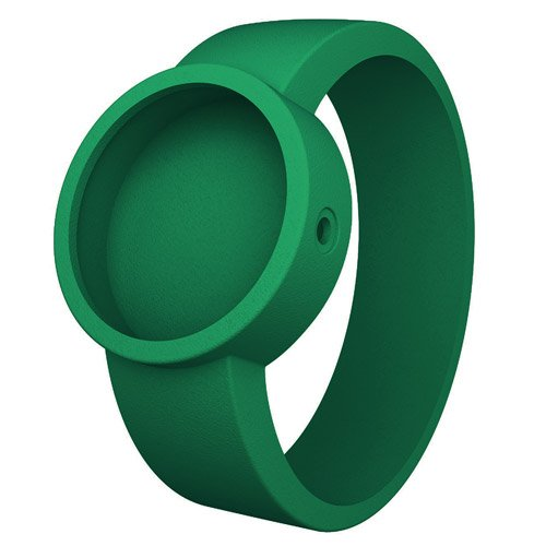 Emerald Green O clock Rubber Watch Strap by Fullspot - (Emerald Mens Watch)