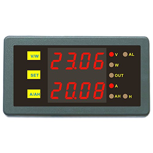 DC Programmable Meter Controller 0-200V 0-50A Volt Amp Power Ah Auto Shut Down