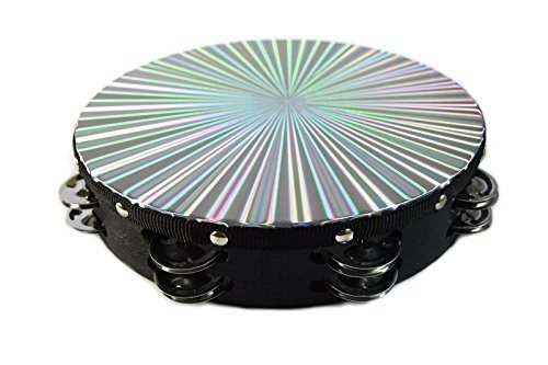8'' 3D Tambourine Music Double Row Jingle Percussion Instrument Church