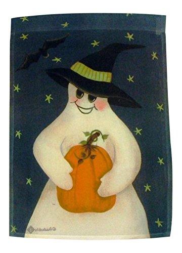 Toland Home Garden Pumpkin Folk Ghost Happy Halloween Standard Flag