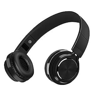 Auriculares Bluetooth Inalámbrico con Cancelación Ruido, MeihuaTu Sobre oreja Audífonos estéreo de Hifi con micrófono incorporado Compatible con tabletas PC Huawei Xiaomi TV Mp4 (Negro)