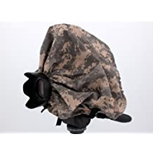 "Digital Camouflage Camera Rain Cover For SLR Rangefinder Cameras with lens combinations up to 13"" long: Leica M1 M2 M3 M4-2 M5 M6 TTL M7 MP M8 ---&--- Contax G1/G2"