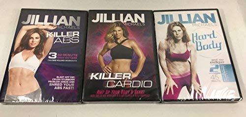 3 Pack Jillian Michaels Fitness DVD. Hard Body, Killer Cardio, Killer Abs