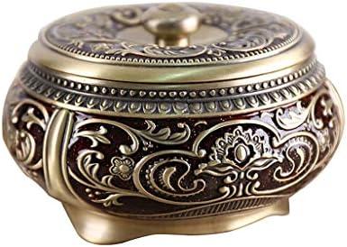 CQ ヨーロピアンスタイルの灰皿付きのふたヨーロピアンスタイルのスタイリッシュな灰皿レトロリビングルームは灰皿彫刻します