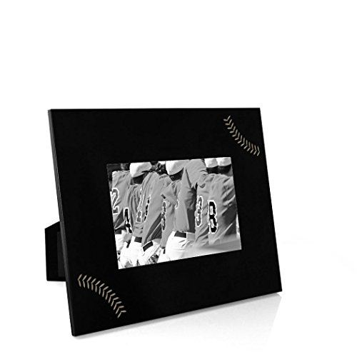 Stitches Frame | Engraved Baseball Picture Frame by ChalkTalk Sports | Horizontal 5X7