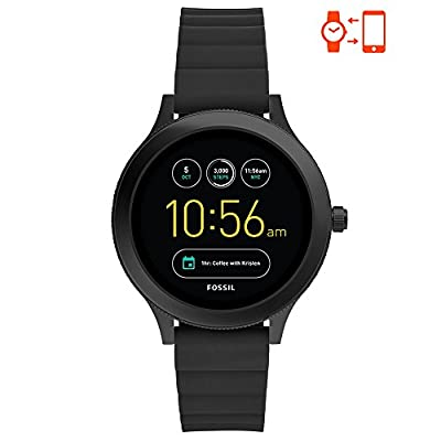 Fossil Q Women's Gen 3 Venture Stainless Steel and Silicone Smartwatch, Color: Black (Model: FTW6009) from Fossil Connected Watches Child Code