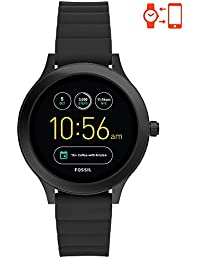 Q Women's Gen 3 Venture Stainless Steel and Silicone Smartwatch, Color: Black (Model: FTW6009)