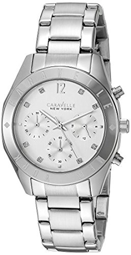 Caravelle New York Women's Quartz Stainless Steel Dress Watch (Model: 43L190) by Caravelle New York