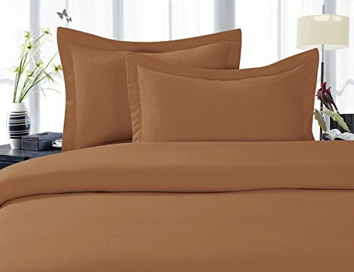 (Elegant Comfort 1500 Thread Count Wrinkle,Fade and Stain Resistant 4-Piece Bed Sheet Set, Deep Pocket, Hypoallergenic - King Bronze)