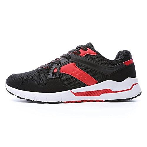 2018 Autunno per traspirante sportive donna Black da Estate Jiuyue e Scarpe con Red tacco alto shoes uomo Color EU ginnastica 45 donna da Dimensione EqO6nzt