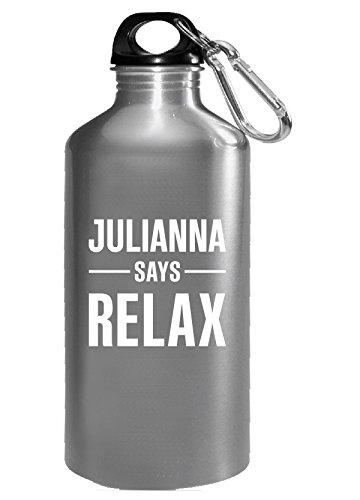 Julianna Says Relax Personalised Gift For Name - Water Bottle