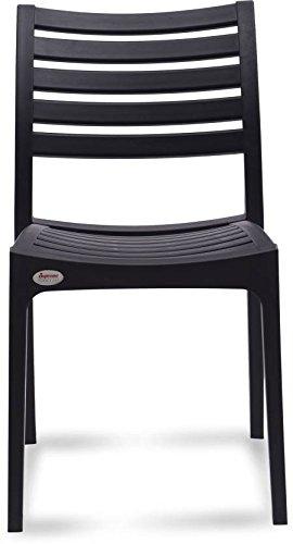 Supreme Omega PP Moulded Chair (Finish Color - Black) Set of - 1