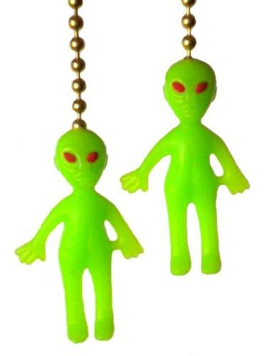 Alien Ceiling Decor Fan Pull Chain Set 2 (Glow In The Dark Fan Pull Chain)