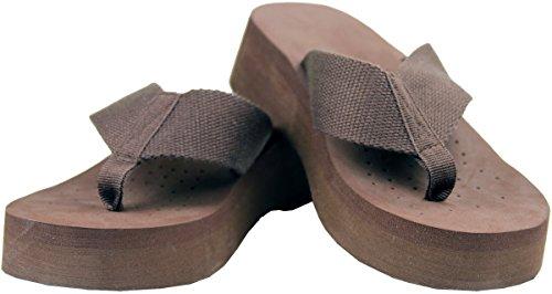 Gino 03 Cojín Marrón 1 1/2 Heel Flip Flops -8-marrón