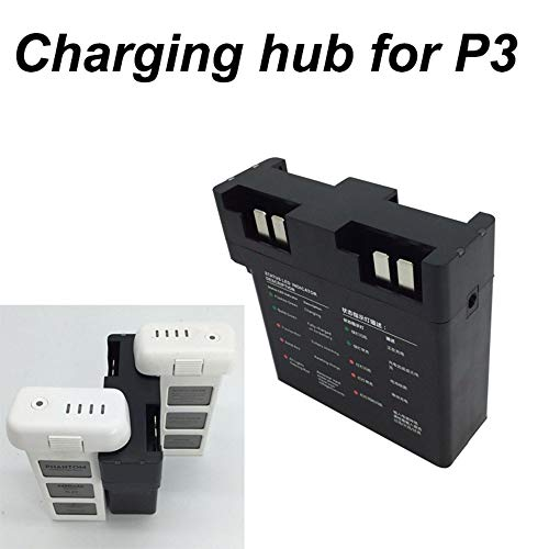 D-Electro Component Drone Battery Chargers - 4 in 1 Battery Charger Parallel Charging Hub Board for DJI Phantom 3 Drone Quick Charger Smart Flight Battery Manager Spare Part