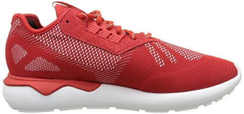 adidas TUBULAR RUNNER WEAVE - Zapatillas de running Unisex adulto Rojo - Rouge (Scarlet/Scarlet/White)