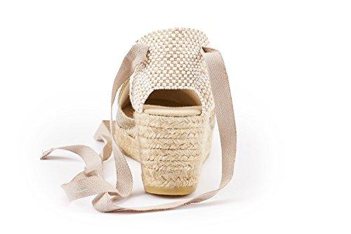 a prodotte Argento tacco in Spagna punte donna Viscata da Scarpe aperte in wqBpWt1ax