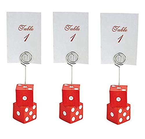 Places Holder (FX Casino Dice Place Card Holders Set of 3 for Casino Night)