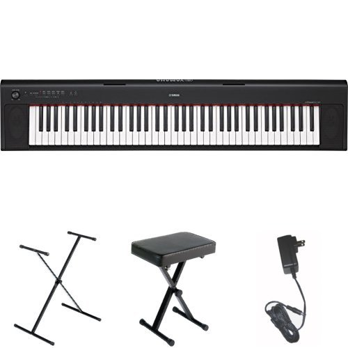 Yamaha NP32 76-Key Lightweight Portable Keyboard, Black, wit