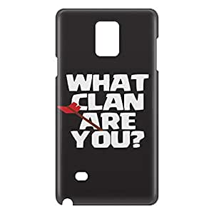 Loud Universe Samsung Galaxy Note 4 3D Wrap Around What Clan Are You Print Cover - Black