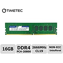 Timetec Hynix IC 16GB DDR4 2666MHz PC4-20800 Unbuffered Non-ECC 1.2V CL19 2Rx8 Dual Rank 288 Pin UDIMM Desktop Memory RAM Module Upgrade (16GB)